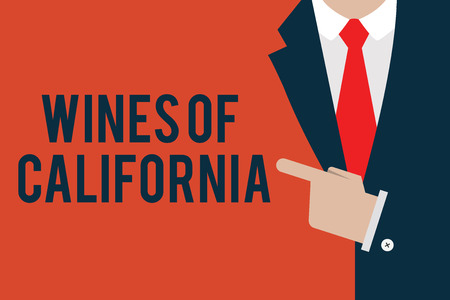 Word writing text Wines Of California. Business concept for Best Winemakers in the USA Export Quality Beverage. Imagens