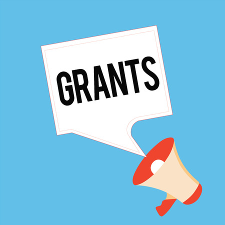 Handwriting text Grants. Concept meaning agree to give or allow something requested someone Authorize action. Stock Photo