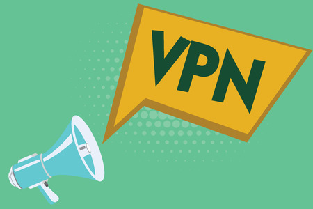 Conceptual hand writing showing Vpn. Business photo showcasing Redirects your connection to the Internet through configured server.