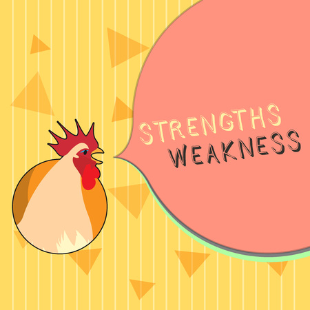Handwriting text Strengths Weakness. Concept meaning Opportunity and Threat Analysis Positive and Negative. 免版税图像 - 111611878