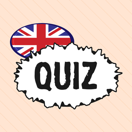 Word writing text Quiz. Business concept for Brief informal test given to students Test of knowledge Examination.