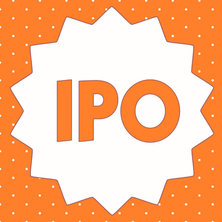 Conceptual hand writing showing Ipo. Business photo showcasing Very first sale of stock issued by a company to the public as investors.