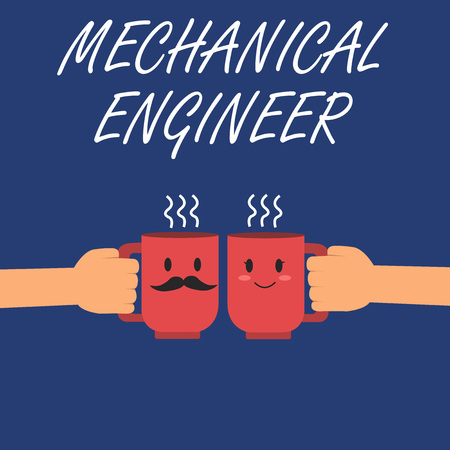 Writing note showing Mechanical Engineer. Business photo showcasing Applied Engineering Discipline for Mechanical System. Stock fotó