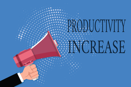 Word writing text Productivity Increase. Business concept for get more things done Output per unit of Product Input. Stock Photo