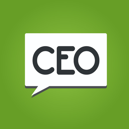 Text sign showing Ceo. Conceptual photo Main person responsible for managing a company Operating officer.