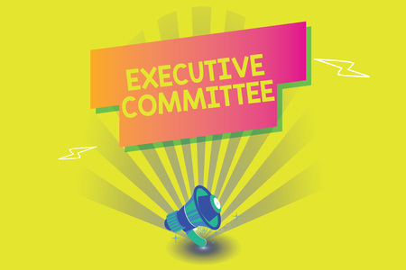 Word writing text Executive Committee. Business concept for Group of Directors appointed Has Authority in Decisions. Reklamní fotografie