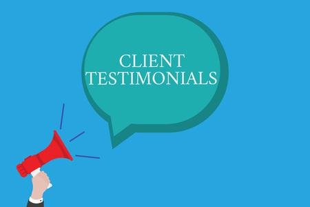 Conceptual hand writing showing Client Testimonials. Business photo text Written Declaration Certifying persons Character Value.