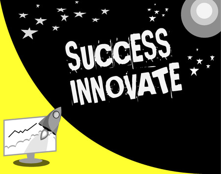 Word writing text Success Innovate. Business concept for make organizations more adaptive to market forces.