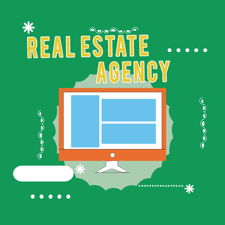 Conceptual hand writing showing Real Estate Agency. Business photo text Business Entity Arrange Sell Rent Lease Manage Properties.