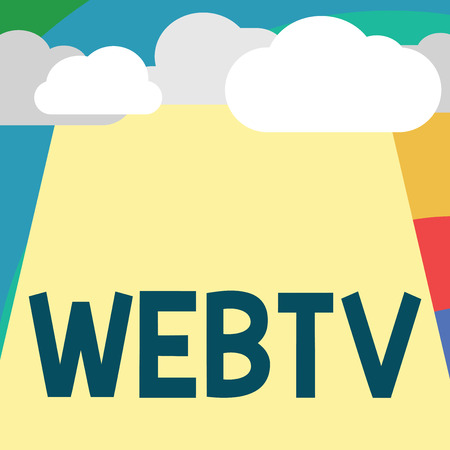 Text sign showing Webtv. Conceptual photo Internet transmission programs produced both online and traditional.