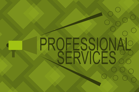 Writing note showing Professional Services. Business photo showcasing offer Knowledge based help some require Licensed. Stock Photo