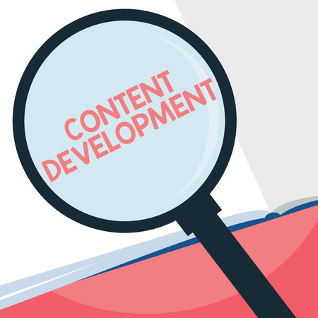 Handwriting text writing Content Development. Concept meaning Specialized in Graphic Design Multimedia Documentation.