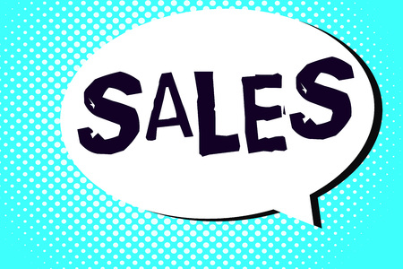 Word writing text Sales. Business concept for exchange of commodity for money Action of selling something Service.