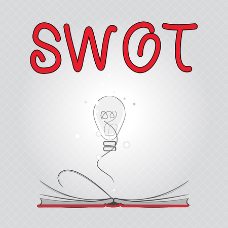 Writing note showing Swot. Business photo showcasing Fundamental assessment of a company Evaluation of competitiveness.