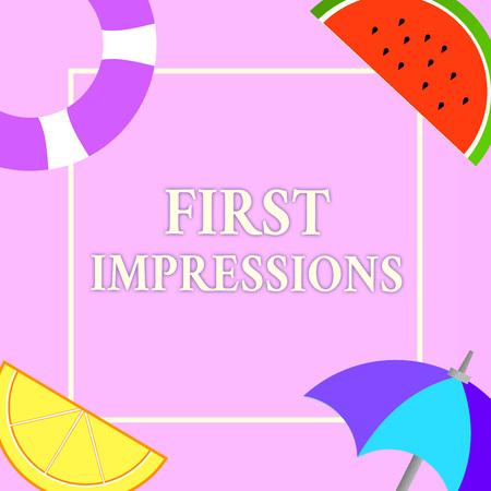 Écrit remarque montrant les premières impressions. Photo d'entreprise montrant ce qu'une personne pense de vous lorsqu'elle vous rencontre pour la première fois. Banque d'images