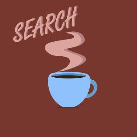 Writing note showing Search. Business photo showcasing try to find something by looking or otherwise seeking carefully.