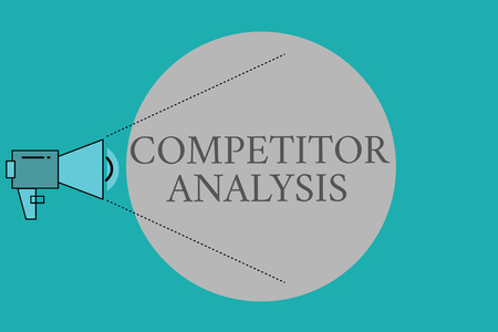 Conceptual hand writing showing Competitor Analysis. Business photo text Determine the Strength Weakness of Competitive Market. Stock Photo