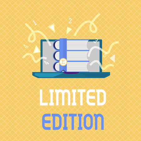 Word writing text Limited Edition. Business concept for Work of something which is only produced in small numbers.