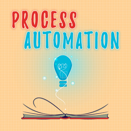 Text sign showing Process Automation. Conceptual photo Transformation Streamlined Robotic To avoid Redundancy. Stock Photo