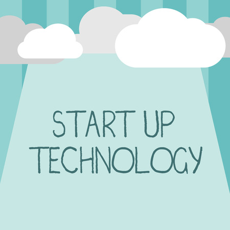Word writing text Start Up Technology. Business concept for Young Technical Company initially Funded or Financed.