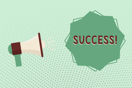 Writing note showing Success. Business photo showcasing accomplishment aim purpose good or bad outcome of undertaking.