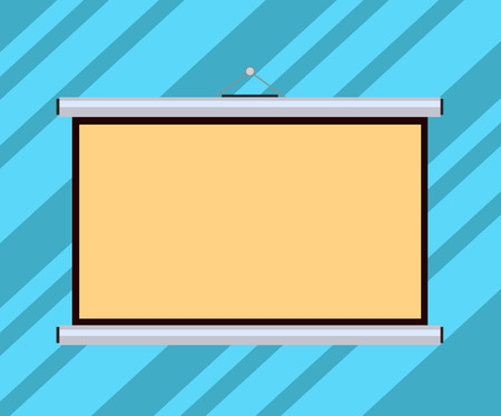 Concept d'entreprise de conception Texte de copie vide pour le modèle de maquette de matériel promotionnel de bannières Web. Écran de projection mural portable vierge pour présentation de conférence Vecteurs