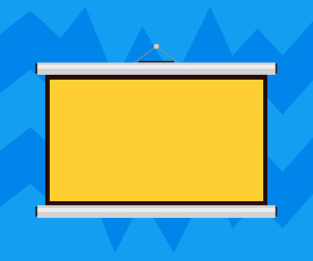 Business Empty template for Layout for invitation greeting card promotion poster voucher. Blank Portable Wall Hanged Projection Screen for Conference Presentation Illustration