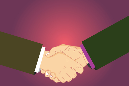 Design business concept Business ad for website promotion banners empty social media ad. Hu analysis Shaking Hands on Agreement Greeting Gesture Sign of Respect Vector