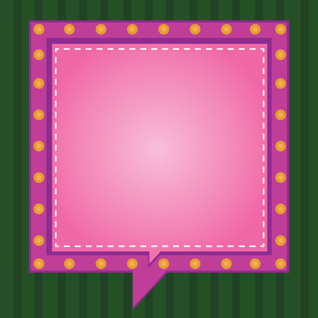 Business Empty template for Layout for invitation greeting card promotion poster voucher. Square Speech Bubbles Inside Another with Broken Lines Circles as Borders