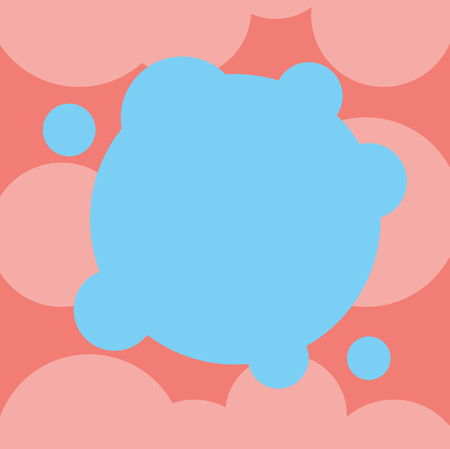 Business Empty template for Layout for invitation greeting card promotion poster voucher. Blank Deformed Color Round Shape with Small Circles Abstract Vector