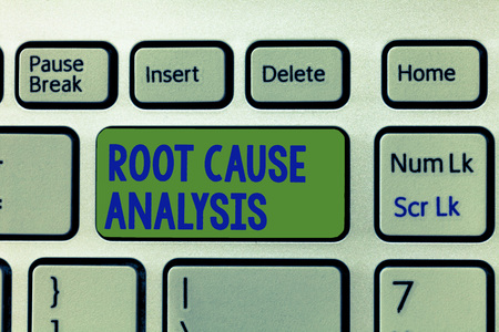 Writing note showing Root Cause Analysis. Business photo showcasing Method of Problem Solving Identify Fault or Problem.