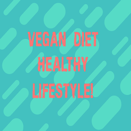 Word writing text Vegan Diet Healthy Lifestyle. Business concept for Healthy lifestyle eating vegetables and fruits Diagonal Repeat Oblong Multi Tone Blank Copy Space for Poster Wallpaper