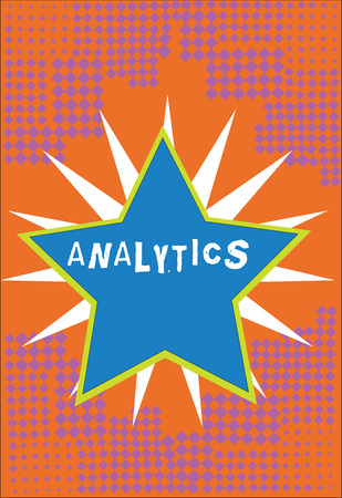 Handwriting text Analytics. Concept meaning systematic computational analysis of data statistics or infos Bordered Glowing Star on Rays of Light Starburst First Class Quality Reklamní fotografie