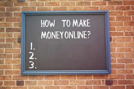 Word writing text How To Make Money Onlinequestion. Business concept for Strategies to get earnings on the internet Reklamní fotografie
