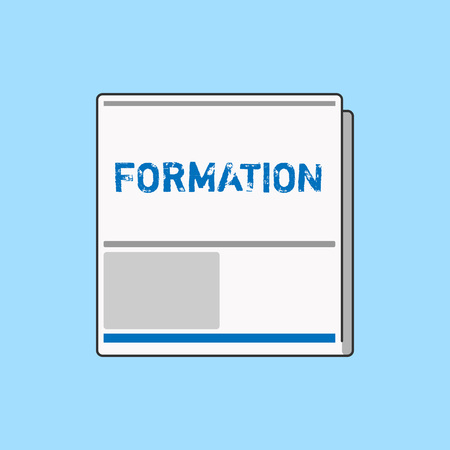Word writing text Formation. Business concept for action of forming or process of being formed especially sport White Board Memoramdum Layout Informing of Meeting Forum Notification