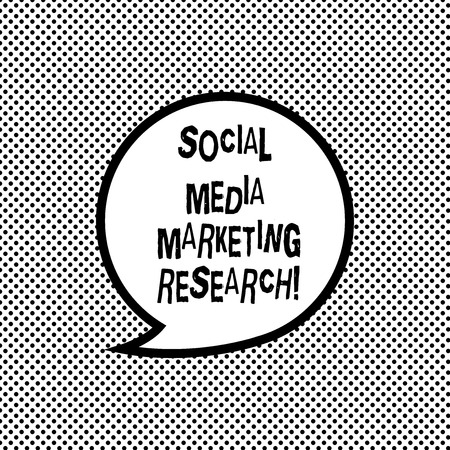 Handwriting text writing Social Media Marketing Research. Concept meaning Website online searching optimization Blank Speech Bubble Sticker with Border Empty Text Balloon Dialogue Box