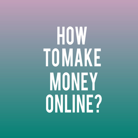 Conceptual hand writing showing How To Make Money Onlinequestion. Business photo showcasing Strategies to get earnings on the internet Blank Halftone Text Space for Ad Announcement Advertisement