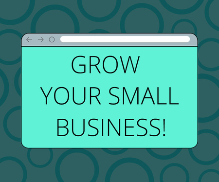 Writing note showing Grow Your Small Business. Business photo showcasing company generates positive cash flow Earn Monitor Screen with Progress Control Bar Blank Text Space