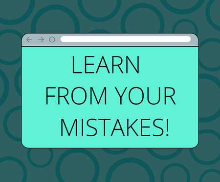 Writing note showing Learn From Your Mistakes. Business photo showcasing Take experience and advice from fails errors Monitor Screen with Progress Control Bar Blank Text Space