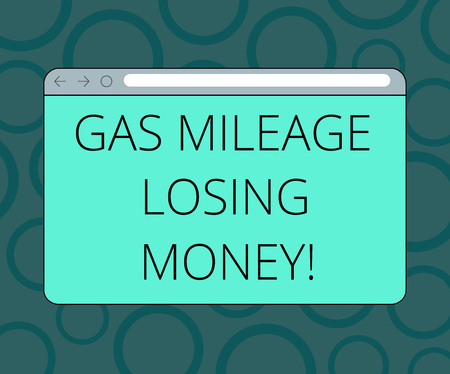 Writing note showing Gas Mileage Losing Money. Business photo showcasing Long road high gas fuel costs financial losses Monitor Screen with Progress Control Bar Blank Text Space