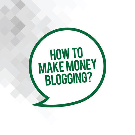Text sign showing How To Make Money Bloggingquestion. Conceptual photo Blogger online modern advertising Blank Speech Bubble Sticker with Border Empty Text Balloon Dialogue Box Reklamní fotografie