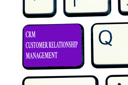 Word writing text Crm Customer Relationship Management. Business concept for Manage and analyze customer interaction. Фото со стока
