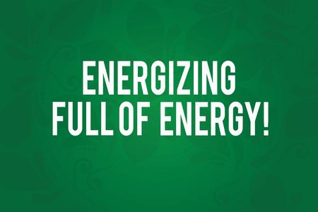 Writing note showing Energizing Full Of Energy. Business photo showcasing Focused energized full of power motivated Seamless Fading Paisley Motif Prints photo on Blank Rectangular Shape