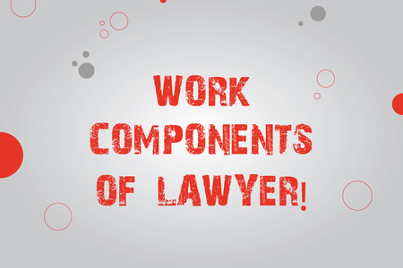 Text sign showing Work Components Of Lawyer. Conceptual photo Lawyers laws documents decisions agreements Blank Rectangle with Round Light Beam in Center and Various Size Circles
