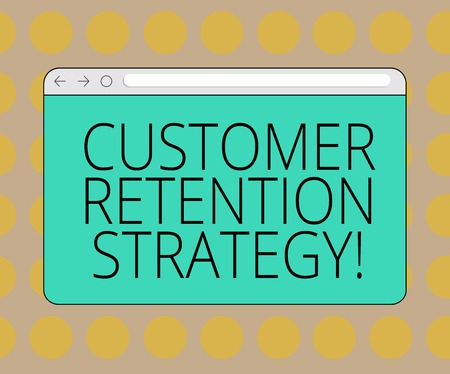 Word writing text Customer Retention Strategy. Business concept for Actions to retain as analysisy customers as possible Monitor Screen with Forward Backward Progress Control Bar Blank Text Space