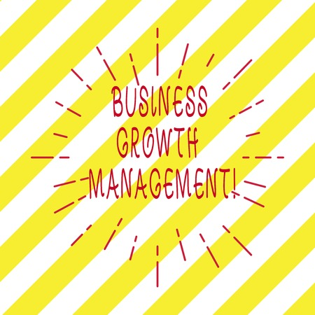 Handwriting text writing Business Growth Management. Concept meaning boosting the top line or revenue of the business Thin Beam Lines Spreading out Dash of Sunburst Radiating on Diagonal Strips