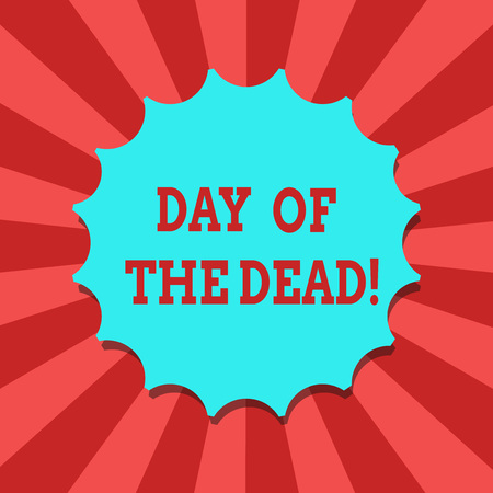 Conceptual hand writing showing Day Of The Dead. Business photo text Mexican celebration honouring showing that have passed away Blank Seal with Shadow for Label Emblem Monogram Stamp Top Quality Stockfoto