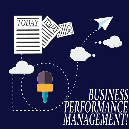 Text sign showing Business Perforanalysisce Management. Conceptual photo setting and monitoring corporate goals Information and Documents Passing thru Cloud Hosting Fast delivery of Data