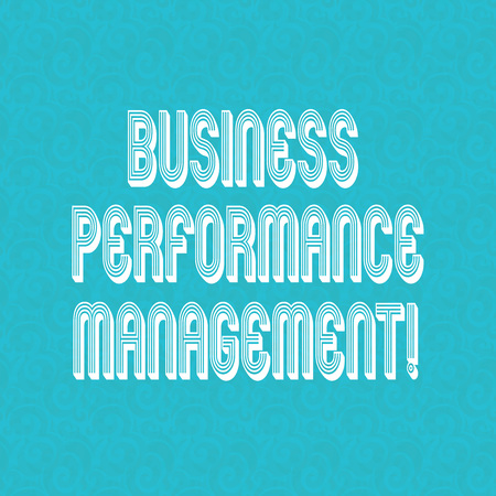 Text sign showing Business Perforanalysisce Management. Conceptual photo setting and monitoring corporate goals Halftone Watermark Seamless Images Design photo Prints on Blank Square