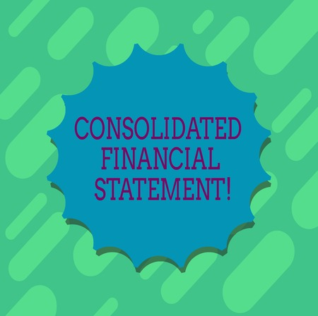 Conceptual hand writing showing Consolidated Financial Statement. Business photo text Total health of a whole group of companies Blank Seal with Shadow for Label Emblem Monogram Stamp Top Quality